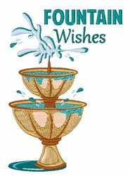 Fountain Wishes embroidery design