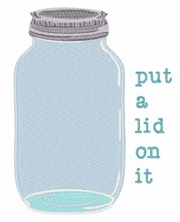 Lid On It embroidery design