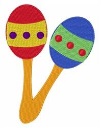 Maracas Shakers embroidery design