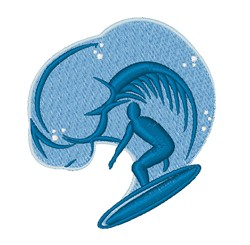 Surf Wave embroidery design