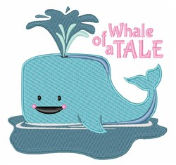 Whale of a Tale embroidery design