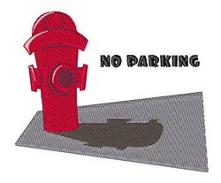 No Parking embroidery design