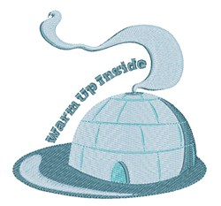 Warm Up Inside embroidery design
