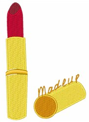 Makeup Tube embroidery design