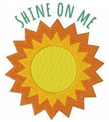 Shine On Me embroidery design