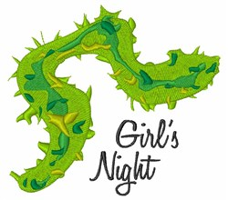 Girls Night embroidery design