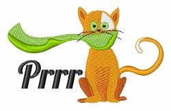 Prrr Cat embroidery design