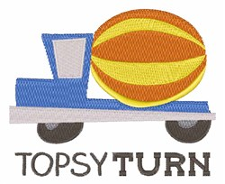 Topsy Turn embroidery design