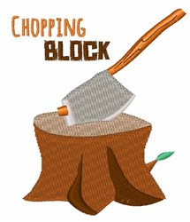 Chopping Block embroidery design