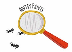 Antsy Pants embroidery design