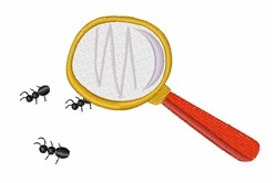 Magnifying Ants embroidery design
