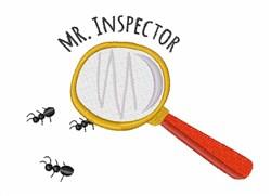Mr. Inspector embroidery design