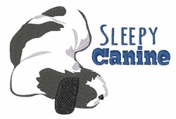 Sleepy Canine embroidery design