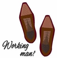 Working Man embroidery design