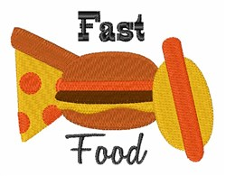 Fast Food embroidery design