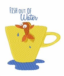 Fish Out of Water embroidery design