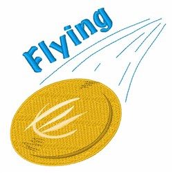 Flying Frisbee embroidery design