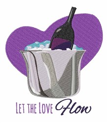 Love Flow embroidery design