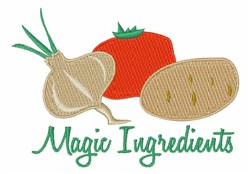 Magic Ingredients embroidery design