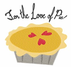 Love of Pie embroidery design