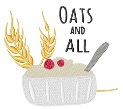 Oats and All embroidery design