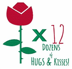 Dozens Hug Kiss embroidery design