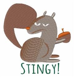 Squirrel Stingy embroidery design