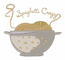 Spaghetti Crazy embroidery design