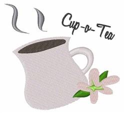 Cup-o-Tea embroidery design