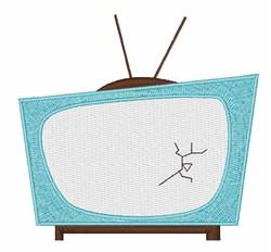 Broken TV embroidery design