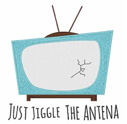 Jiggle Antena embroidery design