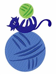 Kitty & Yarn embroidery design