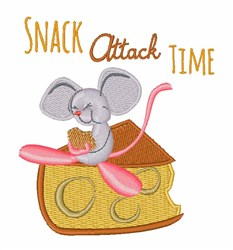 Snack Time embroidery design