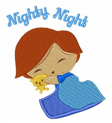 Nighty Night embroidery design