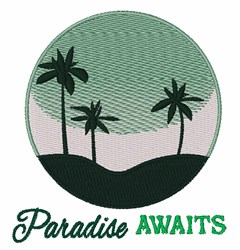 Paradise Awaits embroidery design