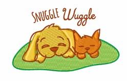 Snuggle Wuggle embroidery design