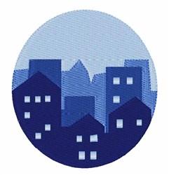 Skyline embroidery design