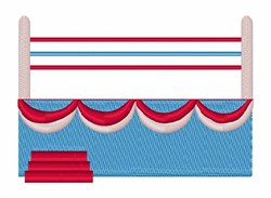 Boxing Ring embroidery design