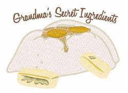 Grandmas Secret Ingredient embroidery design