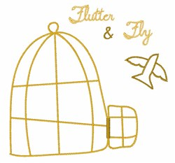 Flutter And Fly embroidery design