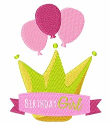 Girls Birthday Banner embroidery design