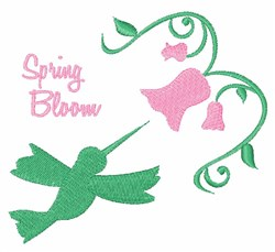 Spring Bloom embroidery design