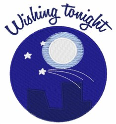 Wishing Tonight embroidery design