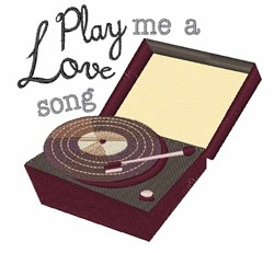 Play A Love Song embroidery design