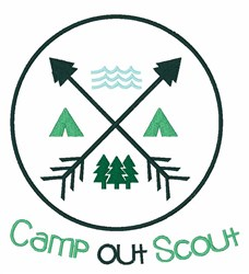 Camp Out Scout embroidery design