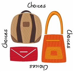 Choices embroidery design