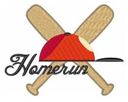 Homerun embroidery design
