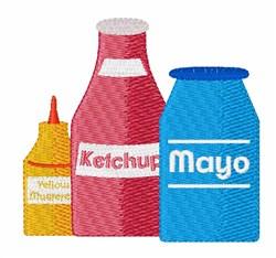 Condiments embroidery design