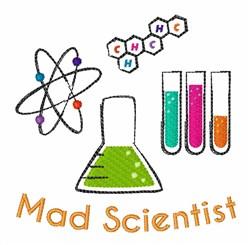 Mad Scientist embroidery design