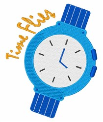 Time Flies embroidery design
